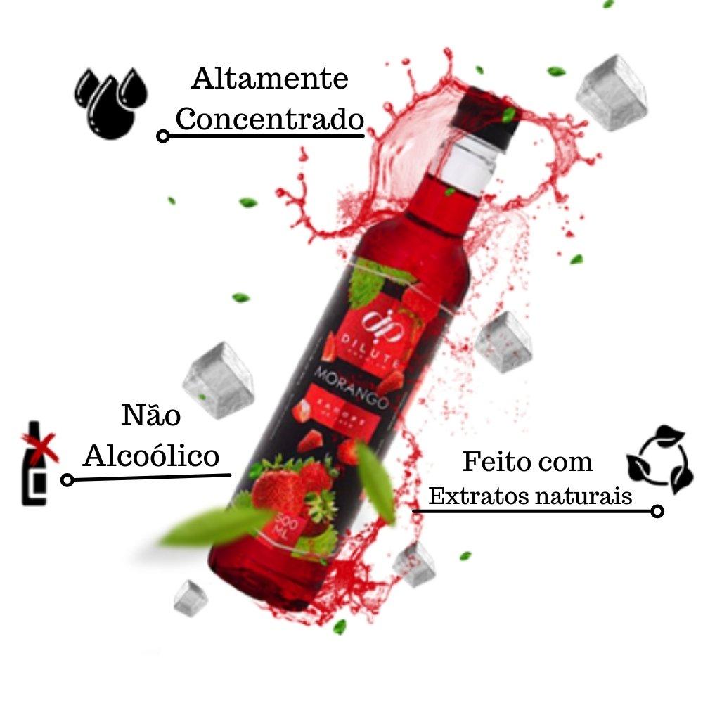 Kit 4 XAROPES DILUTE PREMIUM DRINKS E DOCES 500ML Morango