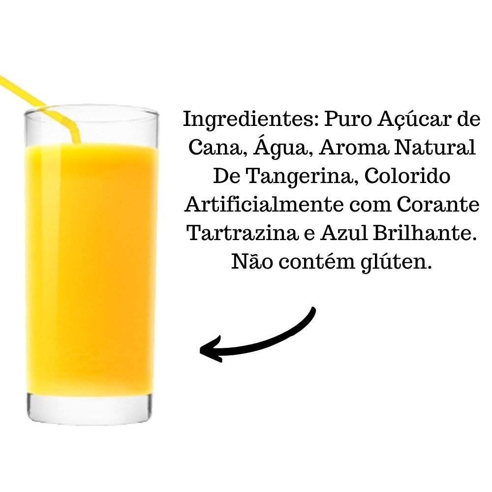 Kit 4 XAROPES DILUTE PREMIUM DRINKS E DOCES 500ML Tangerina