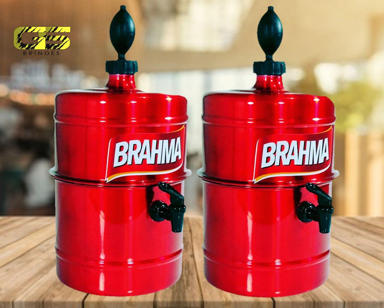 KIT Churrasco Chopeira Brahma - Vermelha - Portátil 5,1 L