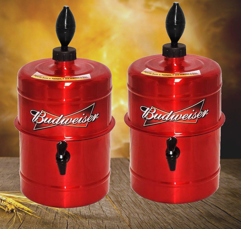 KIT Churrasco Chopeira Budweiser - Vermelha - Portátil 5,1 L