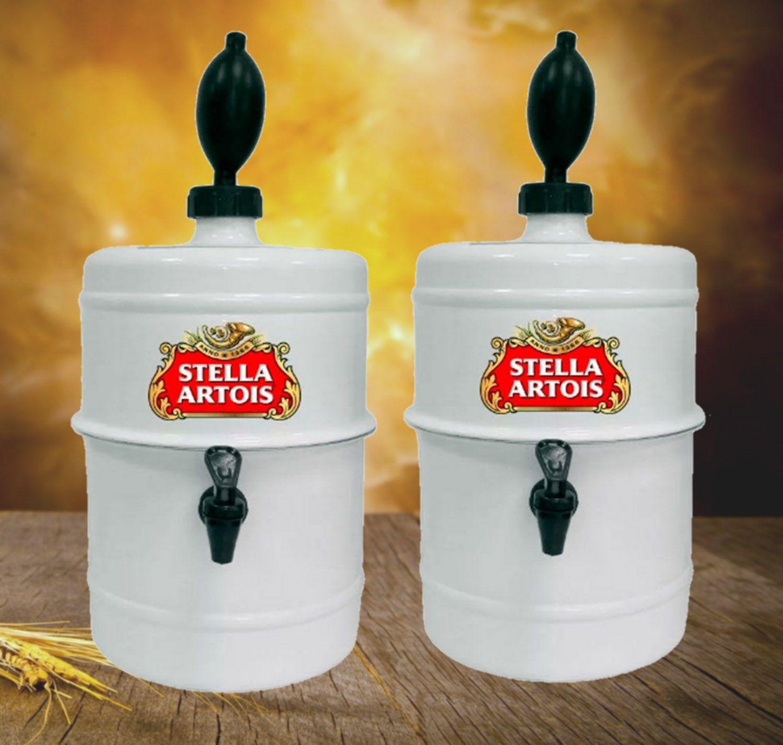 KIT Churrasco Chopeira Stella Artois - Branca - Portátil 5,1 L