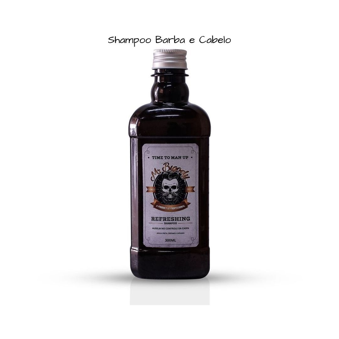KIT Shampoo e Oleo para Barba e Cabelo Mr Bigody