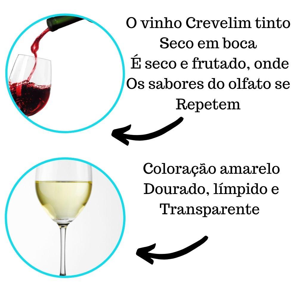 Kit Vinhos De Mesa Crevelim 2 tinto seco e 2 branco Seco Niágara 375ml