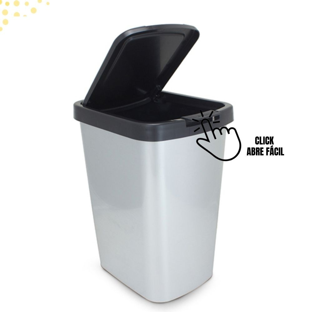 Lixeira Lixinho Cesto Lixo 9 litros Cor Inox Envio 24hs