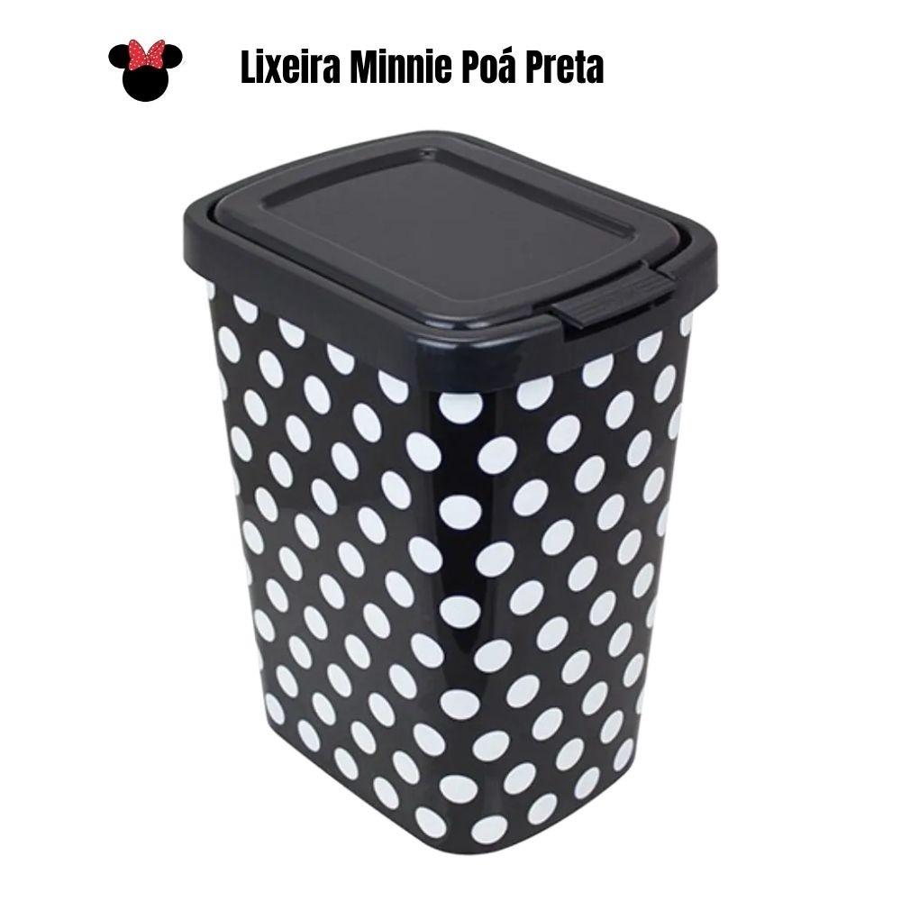 Lixeira Lixinho Cesto Lixo 9 litros Poa Preto Envio 24hs