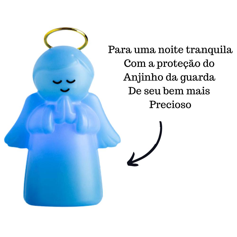 LUMINÁRIA ABAJUR DE MESA ANJO PROTETOR INFANTIL AZUL