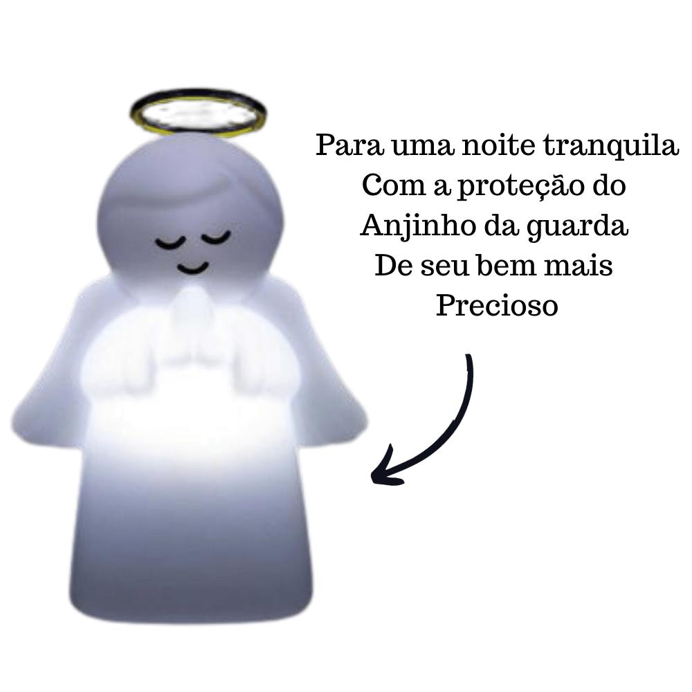 LUMINÁRIA ABAJUR DE MESA ANJO PROTETOR INFANTIL NATURAL BRANCO