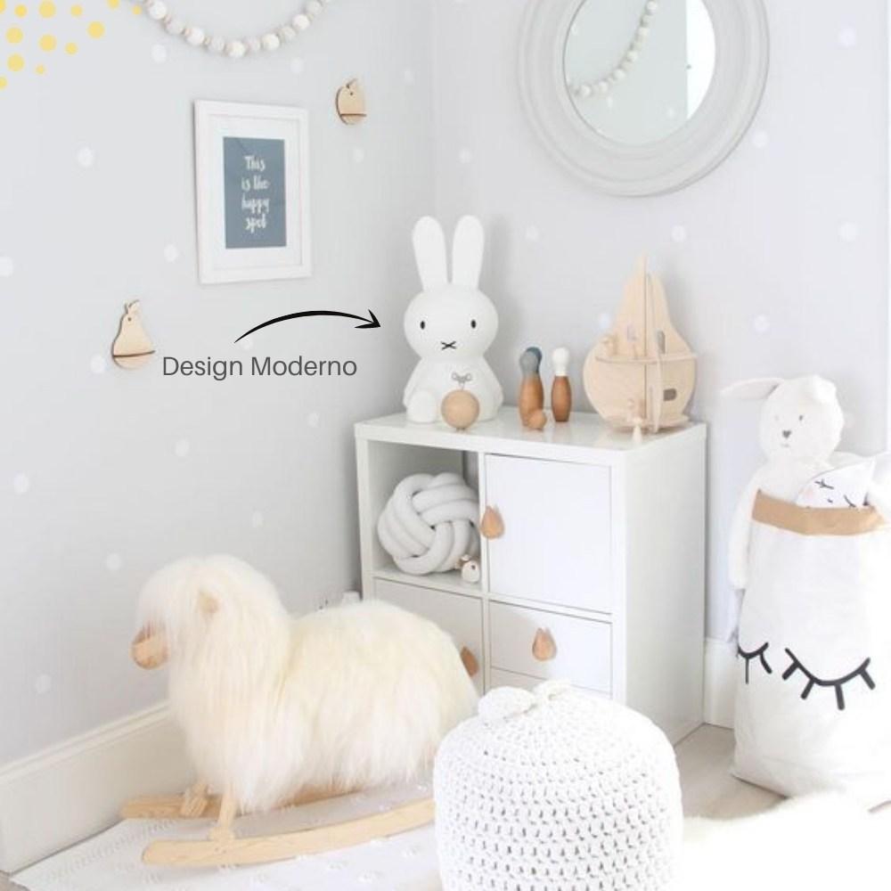 Luminária Miffy 30 cm Original Infantil Coelha com Fio