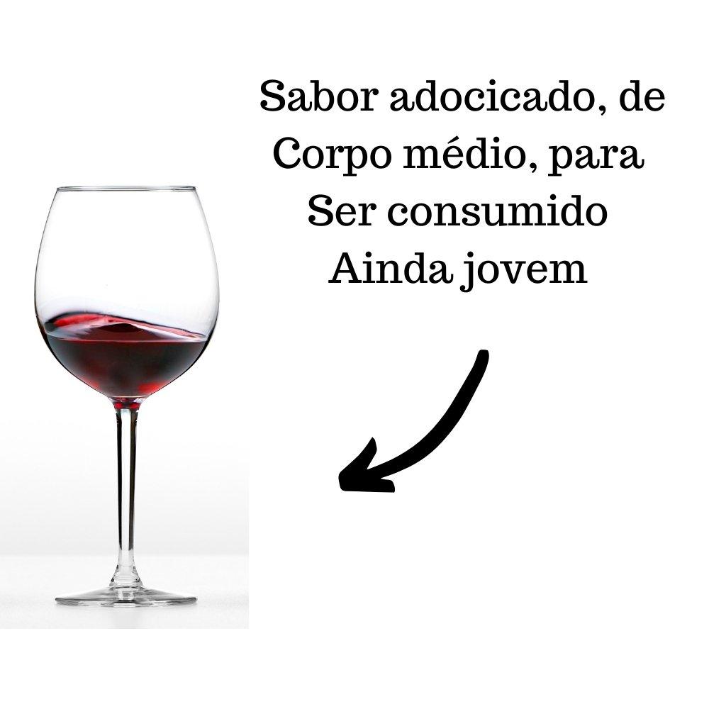 Mini Vinho Crevelim Tinto Suave 245ml