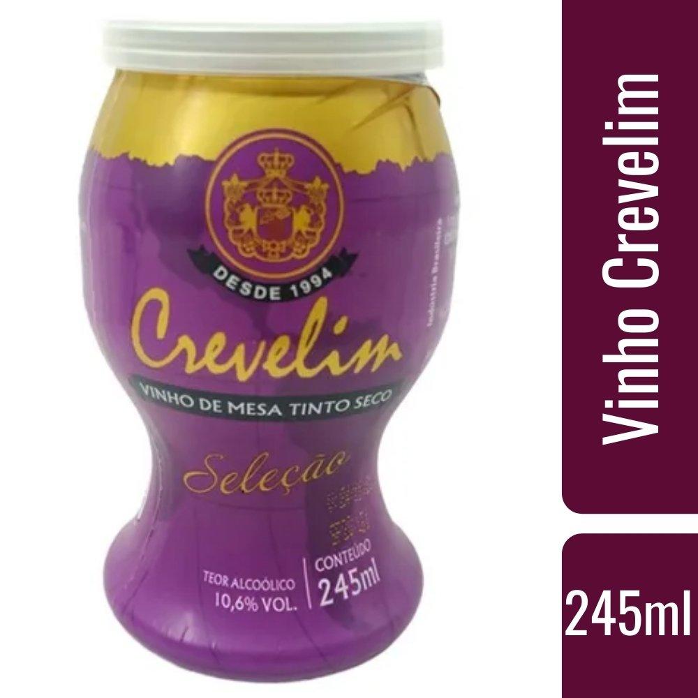 Mini Vinho Crevelim tinto seco 245ml