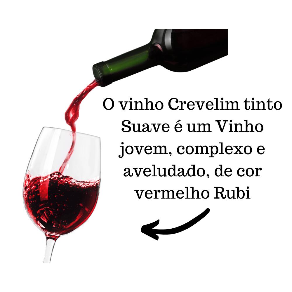 Mini Vinho De Mesa Crevelim Tinto Suave 375ml