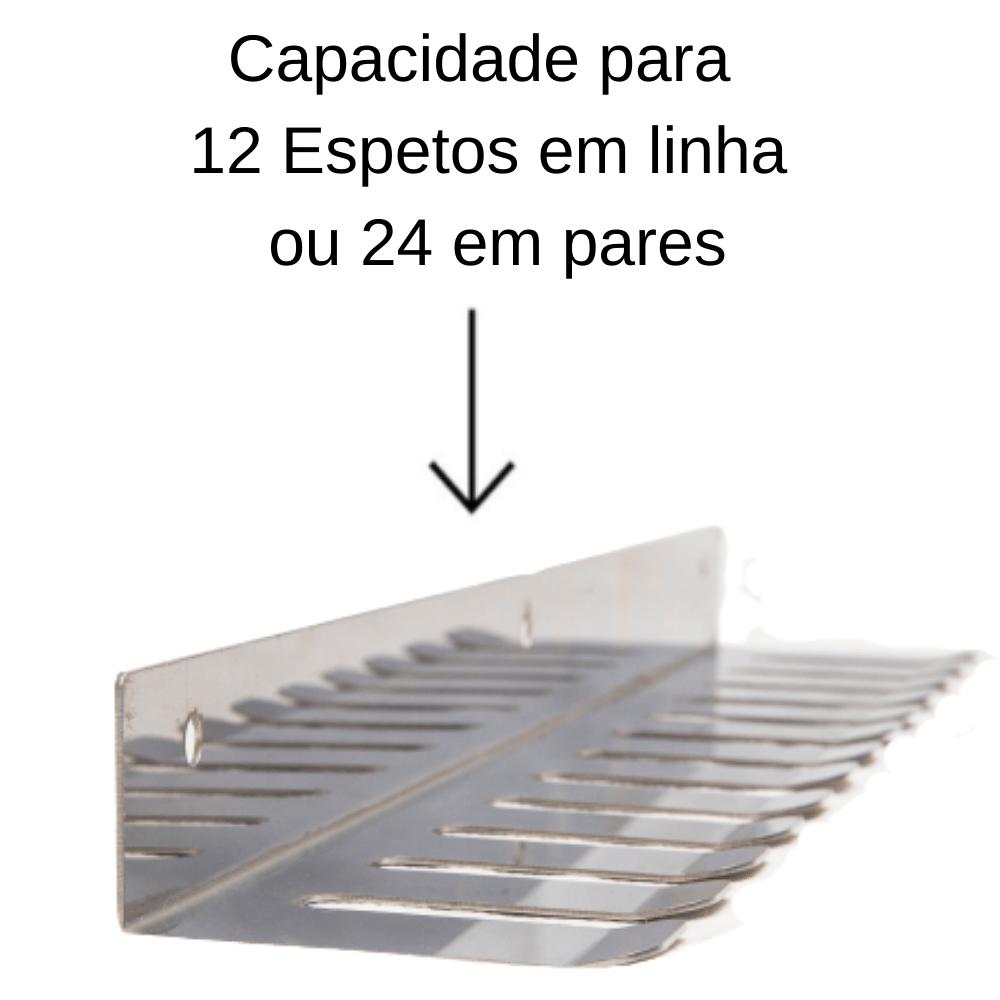 Porta Espetos Para 12 Espetos Modelo Inox
