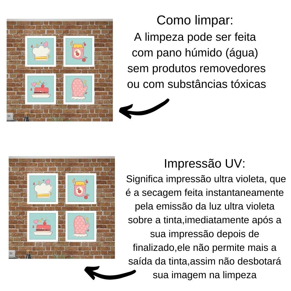 Quadro decorativo para decoração de cozinha e diversos ambientes branco com acrílico 20x20