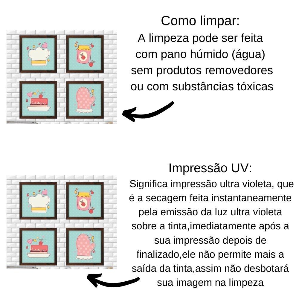 Quadro decorativo para decoração de cozinha e diversos ambientes marrom com acrílico 20x20