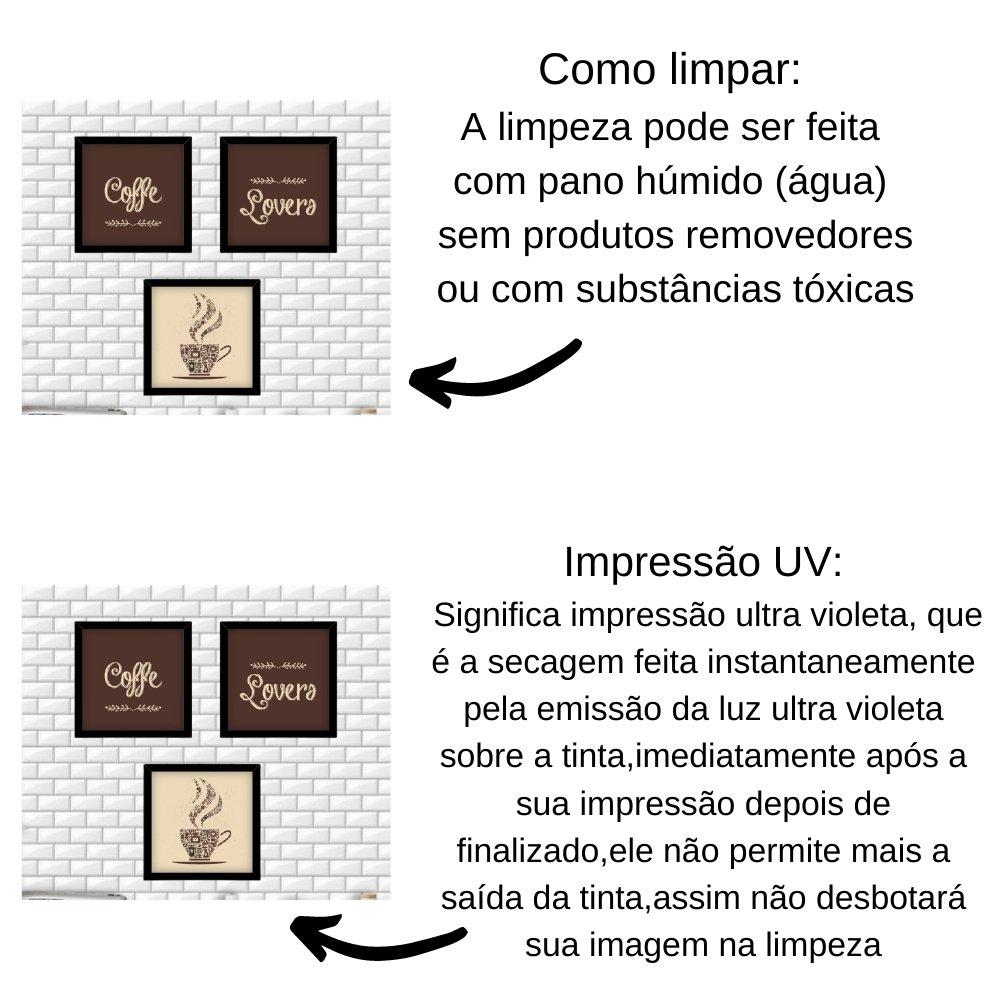 Quadro decorativo para decoração de cozinha e diversos ambientes preto com acrílico 20x20