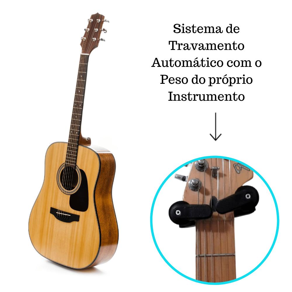 Suporte De Violão E Guitarra Automático Modelo AGS