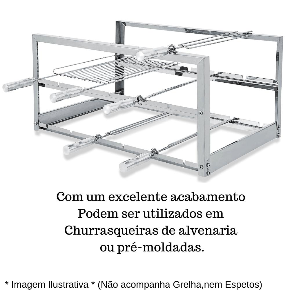 Suporte Fixo Churrasqueira Sem Espetos Alvenaria e Pré Moldada AGI-S 745
