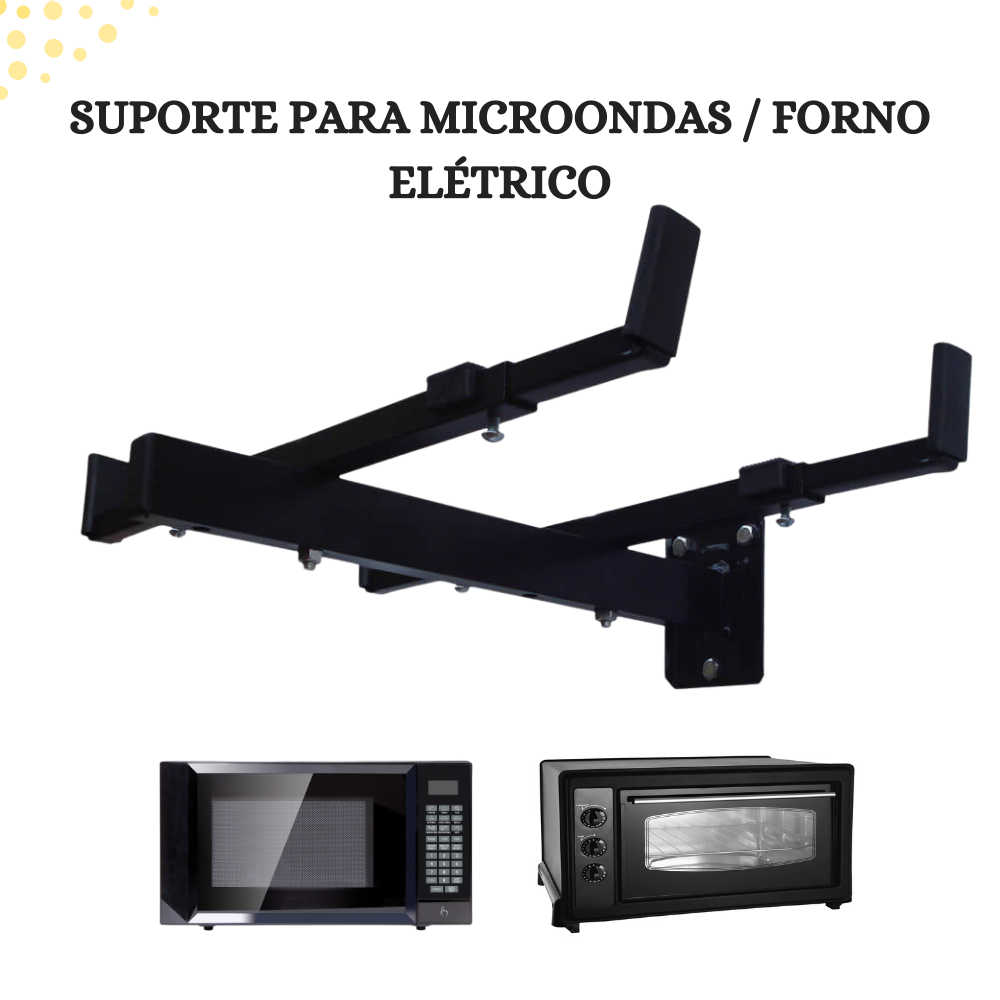 Suporte Para Fornos Eletricos e Microondas Preto Brasforma