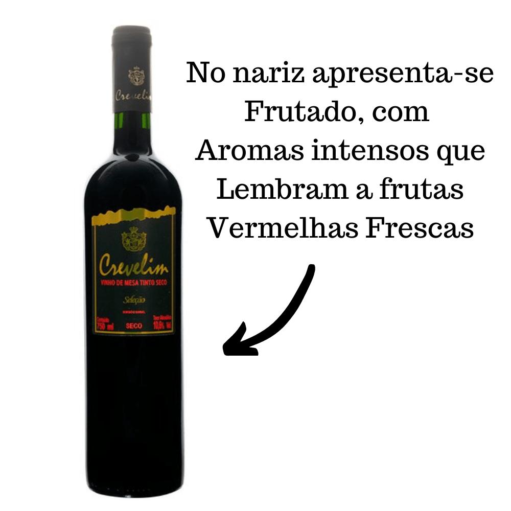 Vinho De Mesa Crevelim Tinto Seco 750ml