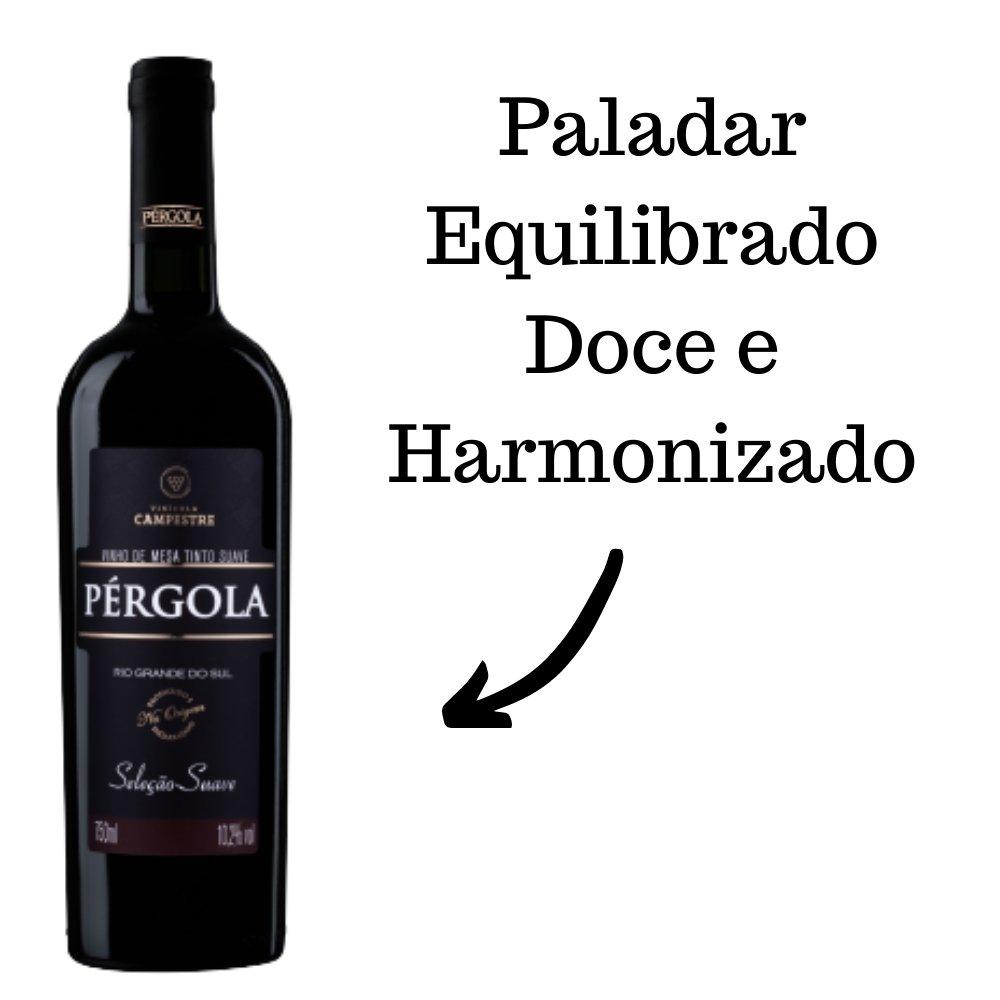 Vinho De Mesa Pérgola Tinto Suave 750ml
