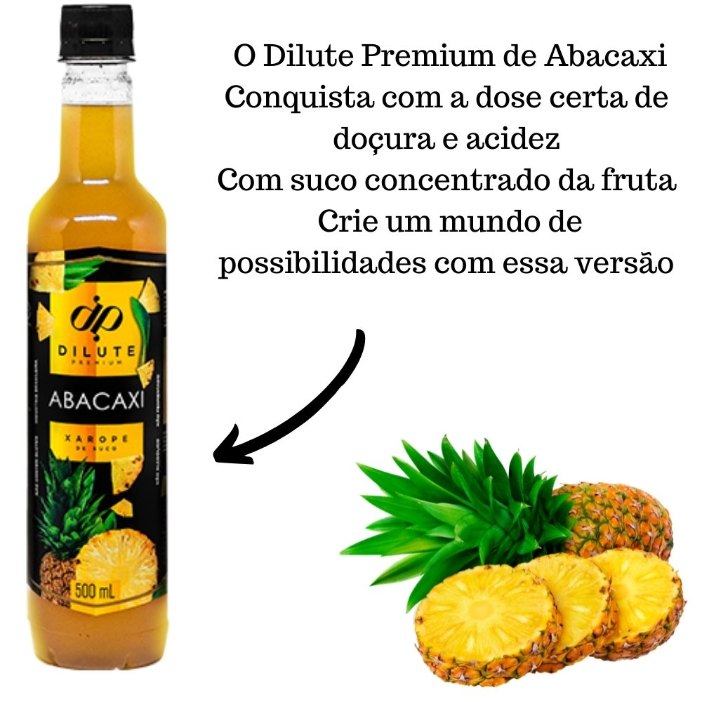 XAROPE DILUTE PREMIUM DRINKS E DOCES 500ML Abacaxi