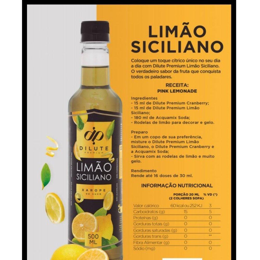 XAROPE DILUTE PREMIUM DRINKS E DOCES 500ML Limão Siciliano