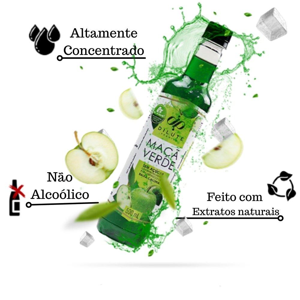 XAROPE DILUTE PREMIUM DRINKS E DOCES 500ML Maçã Verde S/Açucar
