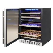 Adega Porta Inox Dual Zone Built-in 45 Garrafas Controle Eletrônico Compressor - Elettromec
