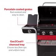 Churrasqueira Americana a gás e carvão mod. 330  - Char-broil