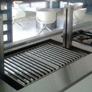 Churrasqueira rotativa com grelha Interna automatizada - Design Churrasqueiras