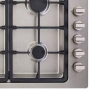 Cooktop a Gás 5 Bocas Tripla Chama Lateral Inox Gusa linha Arkton 90cm - Cuisinart