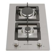 Dominó Elettromec a Gás Quadratto inox 2 Queimadores 30cm - 220v