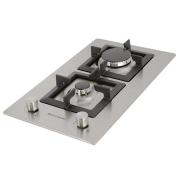 Dominó a Gás Quadratto inox 2 Queimadores 30cm - 220v - Elettromec