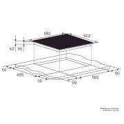 Cooktop Elétrico Vitrocerâmico 4 Queimadores 60cm - Elettromec