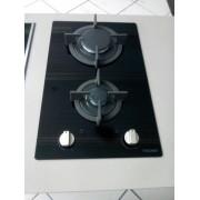 Dominó  a Gás Vitrocerâmica 2 Queimadores 30cm - 220v  - Tecno