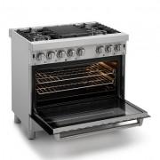 Fogão de piso Profissional gás e forno elétrico 90 cm - 220v - Elettromec