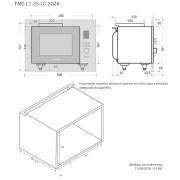 Microondas Luce 25 Litros Built-in 60cm - Elettromec