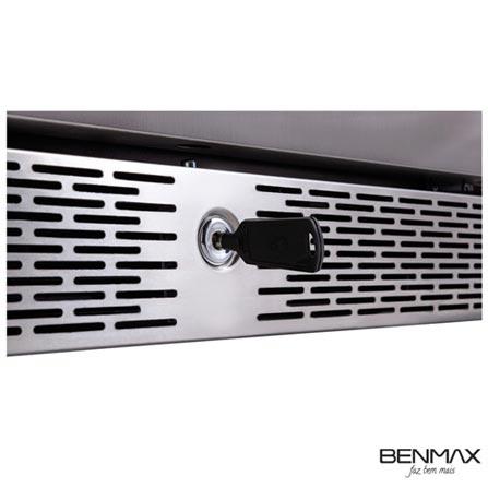 Adega climatizada porta inox capacidade 188 garrafas -Benmax