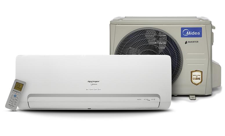Ar-Condicionado Split Springer Inverter - 24.000 BTUs Quente/Frio - Midea