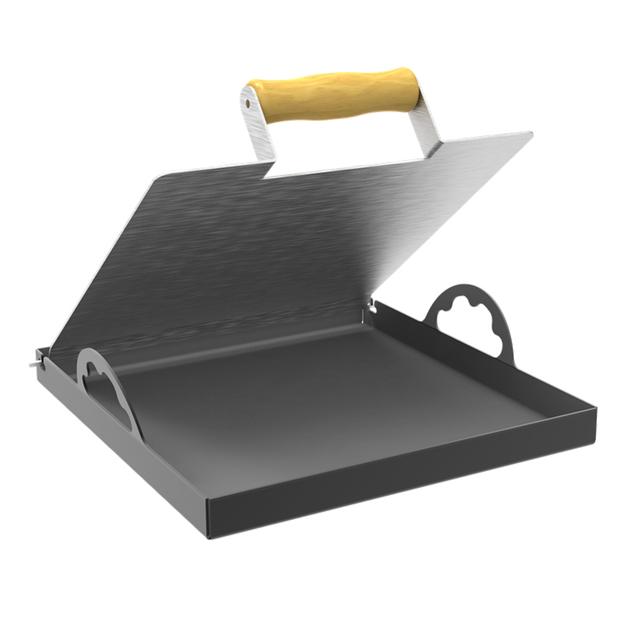 Bifeteira de Sobrepor Tripla Chama 32cm - Design Churrasqueira