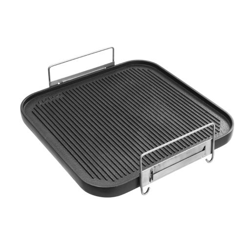 Chapa bistequeira em aluminio com teflon 40cm para cooktop - Felesa