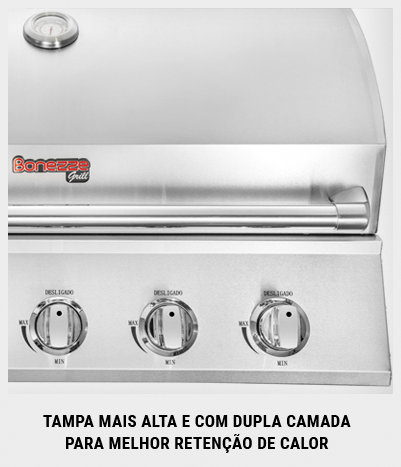 Churrasqueira a Gás 60cm Built-in Pro 4 - Bonezze Grill