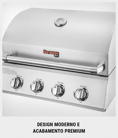 Churrasqueira a Gás 85cm Built-in Pro 5 - Bonezze Grill