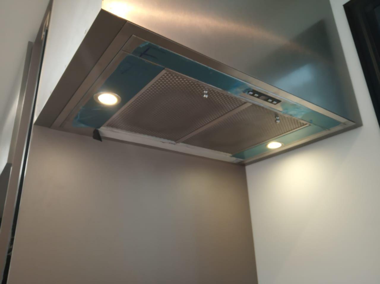 Coifa  de embutir no armário Inox  90cm - Art & Design Premium