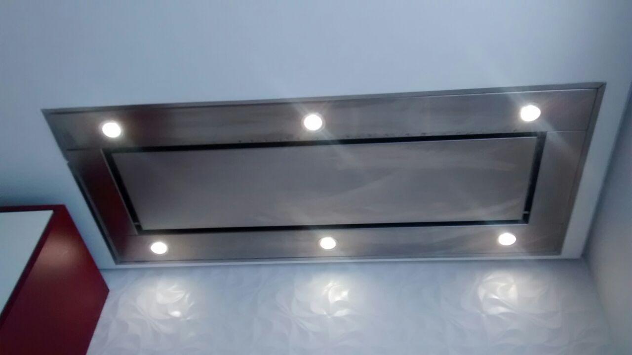 Coifa  de Embutir no teto Inox  130cm - Design Steel