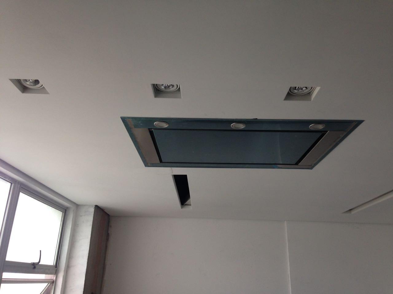 Coifa  de Embutir no teto Inox  130cm - Art & Design Premium