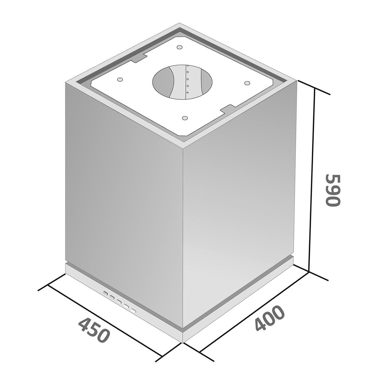 Coifa Gaia parede inox 45cm - Venturi