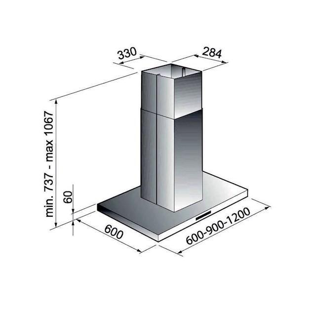 Coifa Ilha inox Milano Touch 120cm - Elettromec