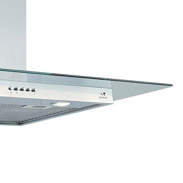 Coifa ilha inox/vidro modelo Brisa 80cm - Arix