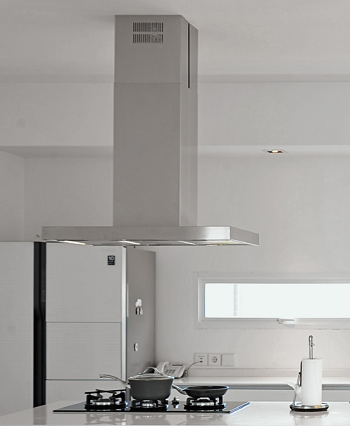 Coifa ilha modelo line Inox  90cm - Design Steel